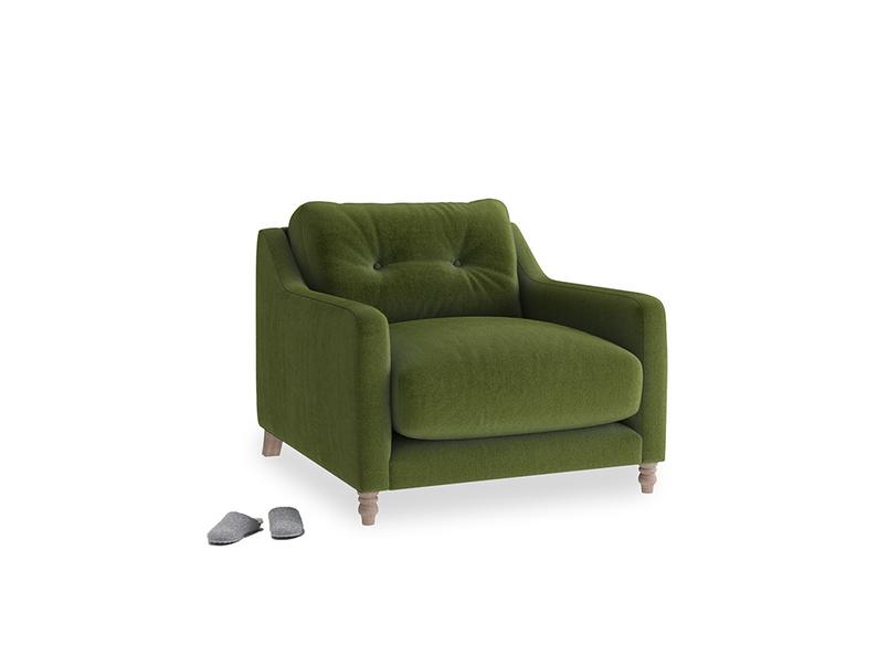 Slim Jim Armchair in Good green Clever Deep Velvet