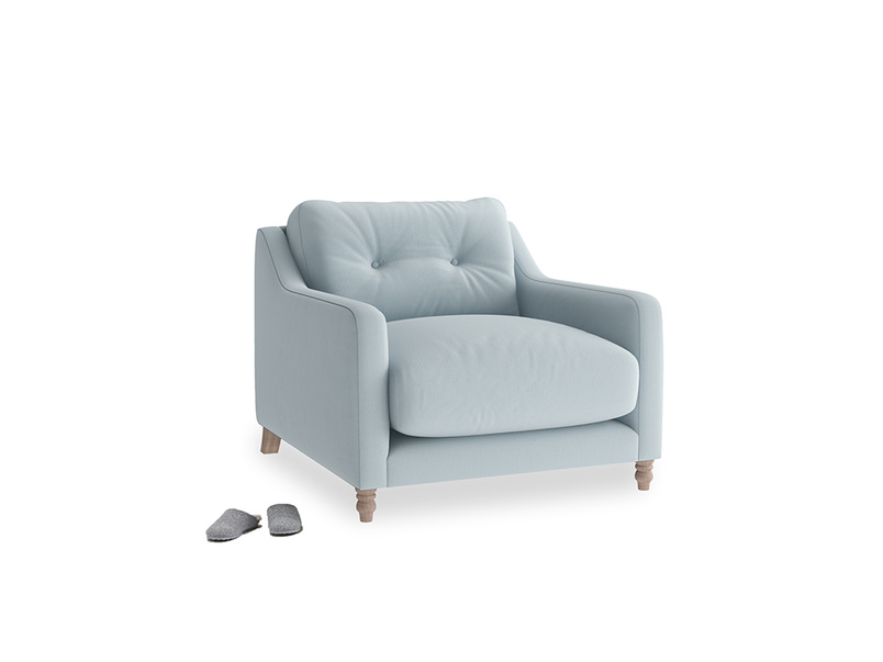 Slim Jim Armchair in Scandi blue clever cotton
