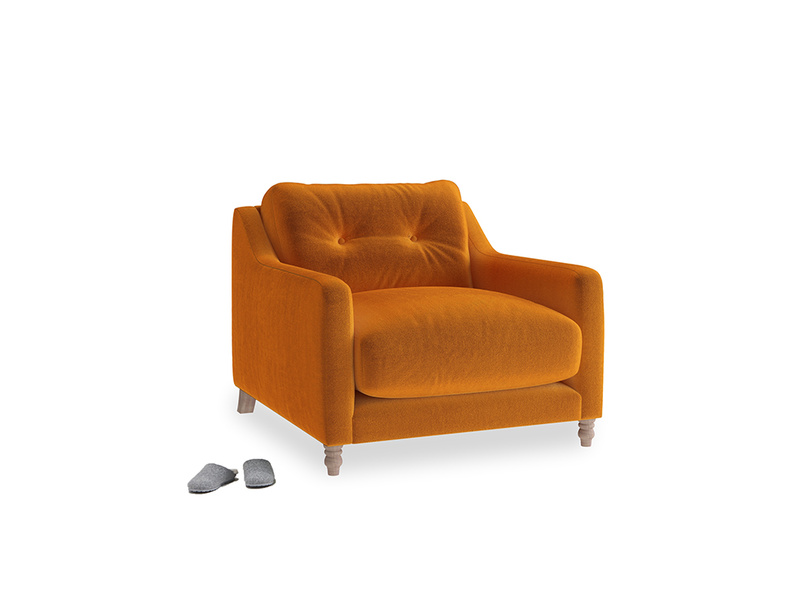 Slim Jim Armchair in Spiced Orange clever velvet