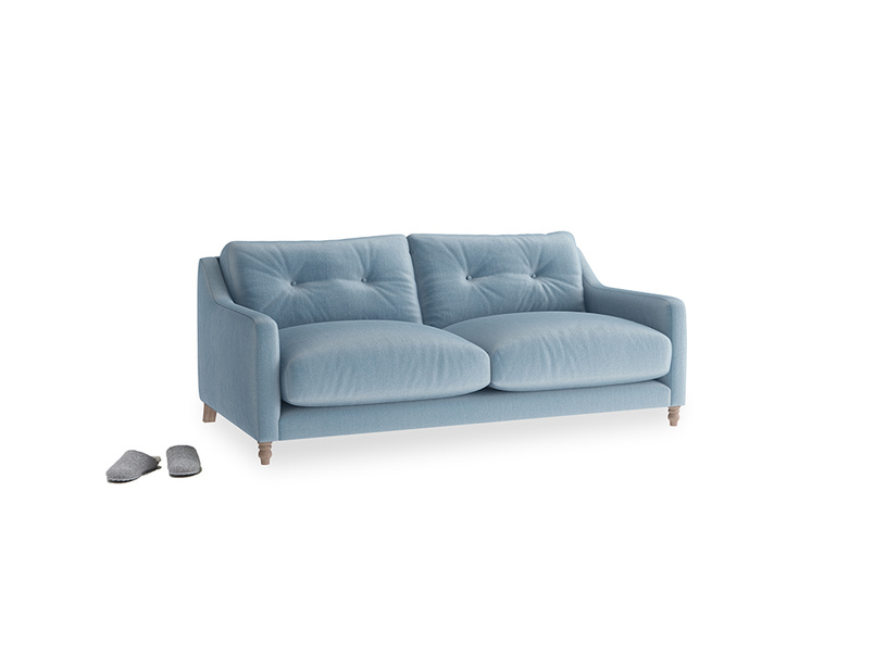 Small Slim Jim Sofa in Chalky blue vintage velvet