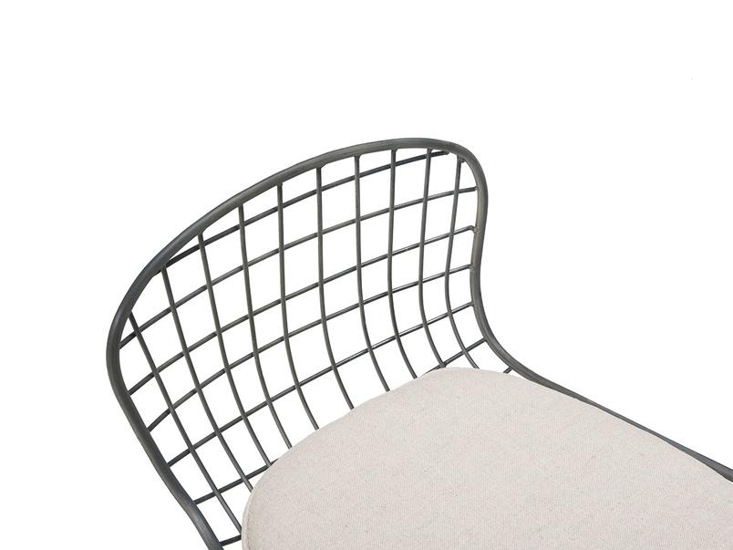 Tall Burger bar stool in Linen cushion