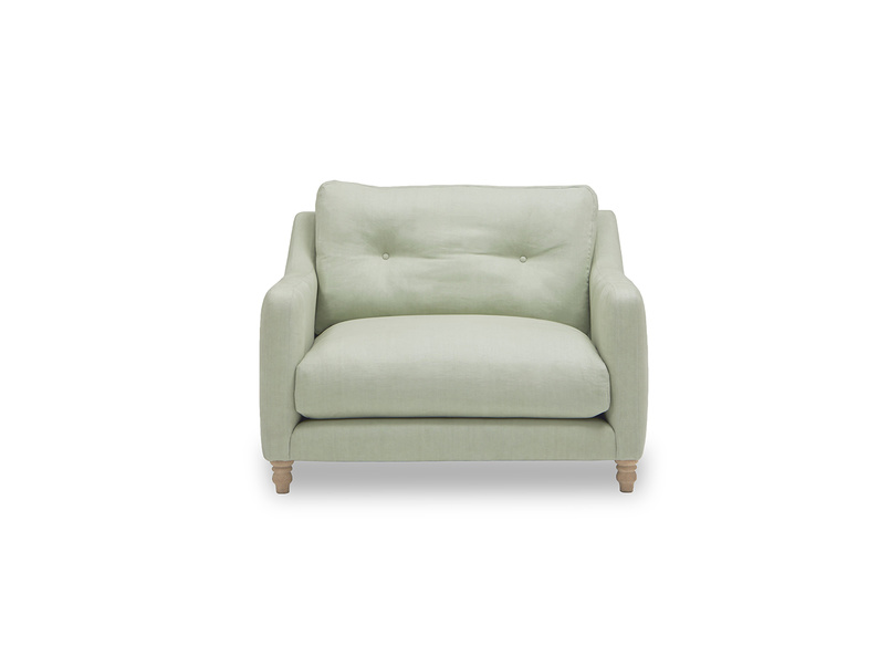 Slim Jim button back love seat