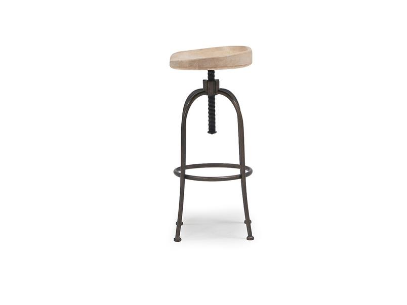 Tractor adjustable kitchen stool