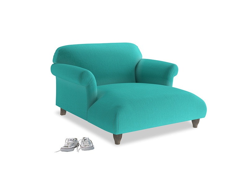 Love Seat Chaise Soufflé Love Seat Chaise in Fiji Clever Velvet