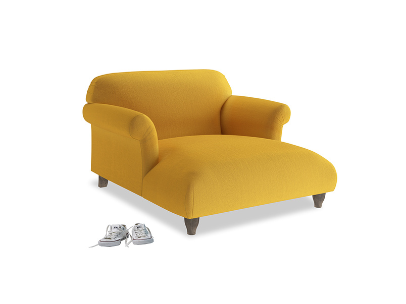 Love Seat Chaise Soufflé Love Seat Chaise in Pollen Clever Deep Velvet