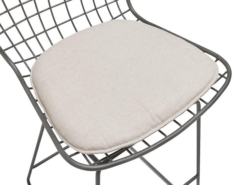 Tall Burger bar stool in Linen