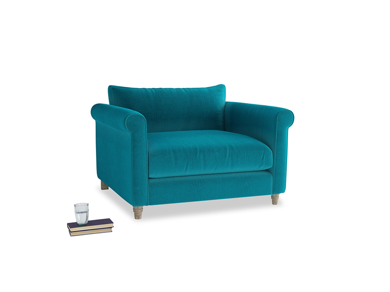 Love Seat Weekender Love seat in Pacific Clever Velvet