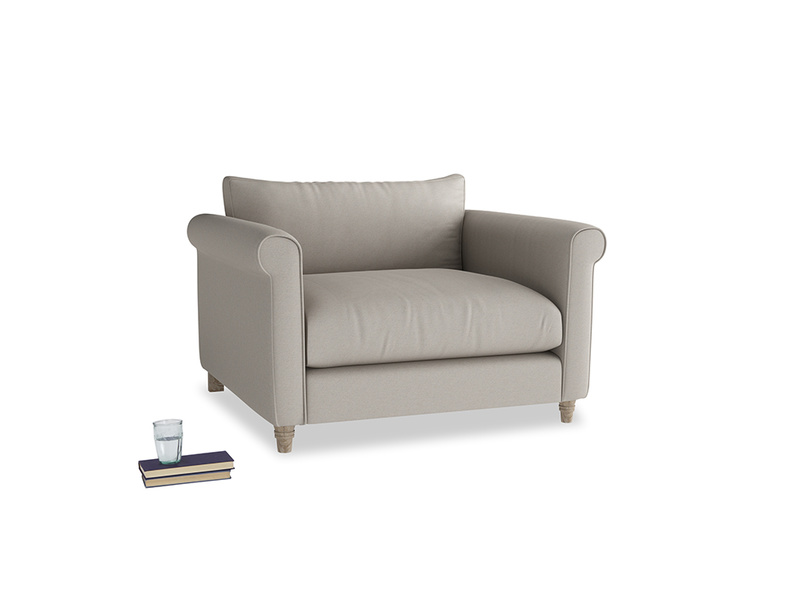 Love Seat Weekender Love seat in Sailcloth grey Clever Woolly Fabric