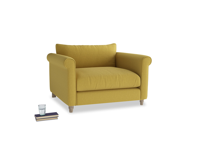 Love Seat Weekender Love seat in Maize yellow Brushed Cotton