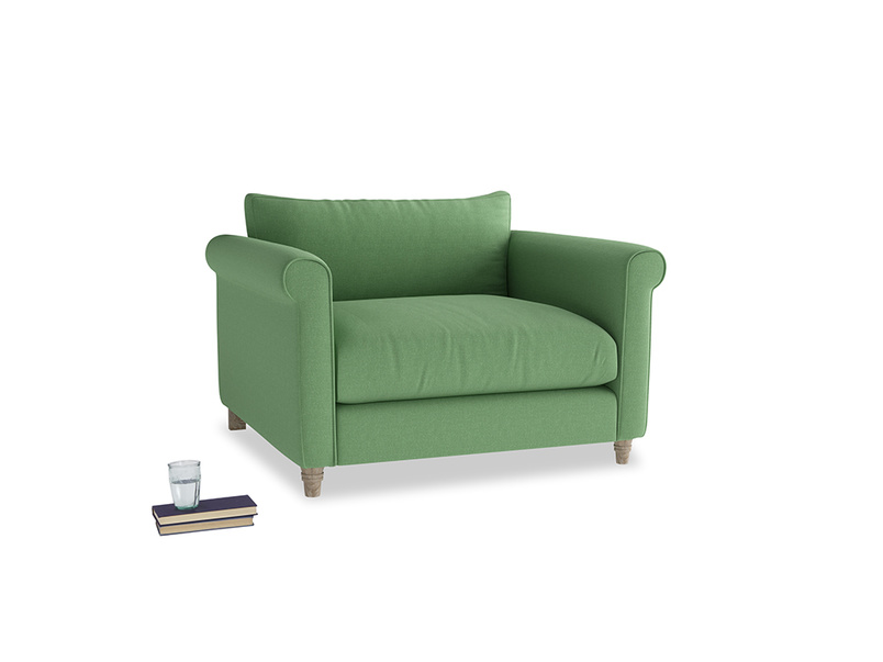 Love Seat Weekender Love seat in Clean green Brushed Cotton