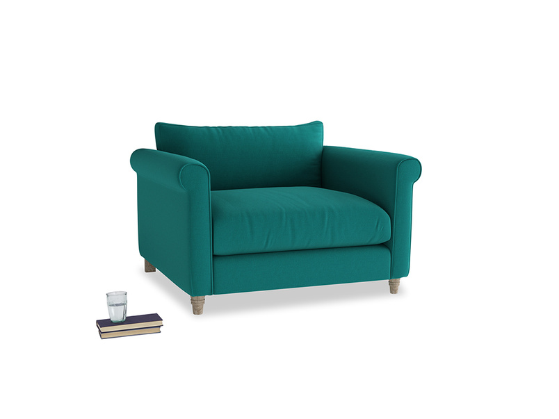 Love Seat Weekender Love seat in Indian green Brushed Cotton