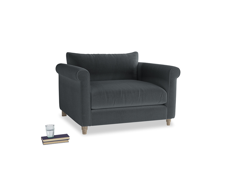 Love Seat Weekender Love seat in Dark grey Clever Deep Velvet