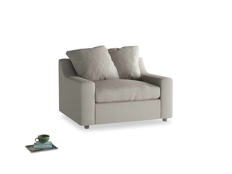 Love Seat Sofa Bed Cloud love seat sofa bed in Sailcloth grey Clever Woolly Fabric