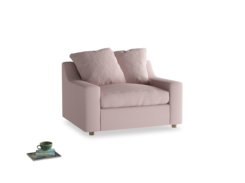 Love Seat Sofa Bed Cloud love seat sofa bed in Potter's pink Clever Linen