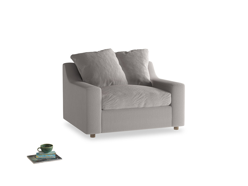 Love Seat Sofa Bed Cloud love seat sofa bed in Mouse grey Clever Deep Velvet