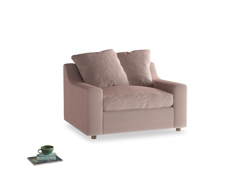 Love Seat Sofa Bed Cloud love seat sofa bed in Rose quartz Clever Deep Velvet