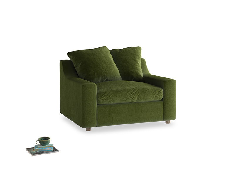 Love Seat Sofa Bed Cloud love seat sofa bed in Good green Clever Deep Velvet