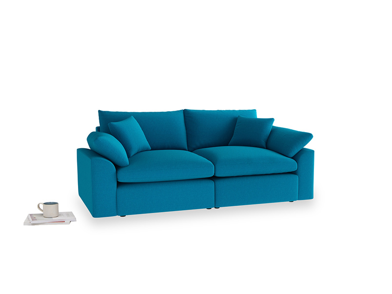 Medium Cuddlemuffin Modular sofa in Bermuda Brushed Cotton