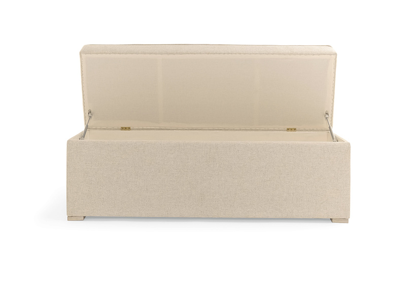 Upholstered Eton Mess ottoman chest and bench