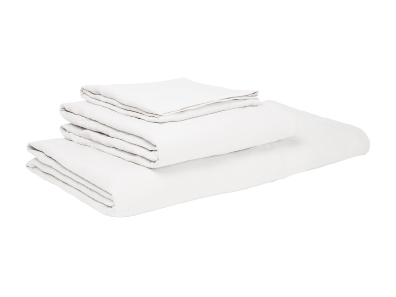 Single Lazy Linen pillowcases in White