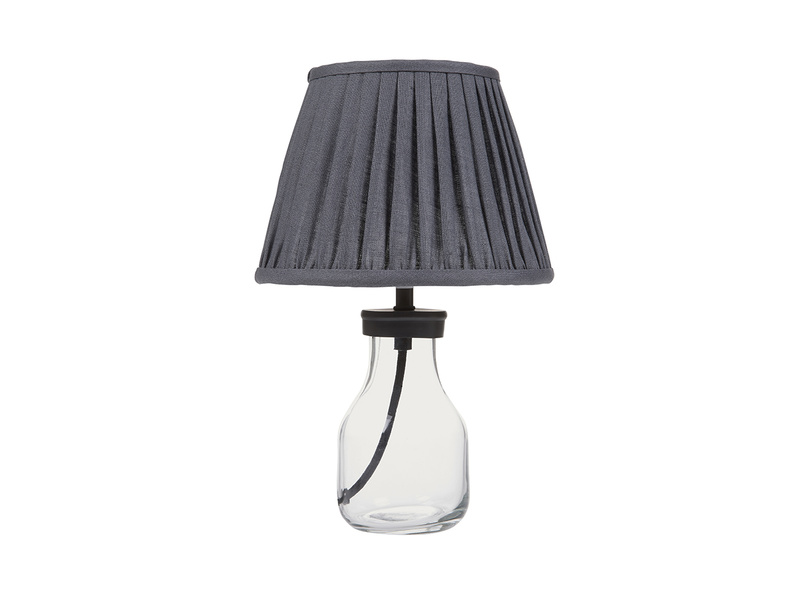 Mini Milk Bottle table lamp with glass base