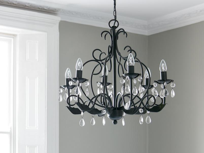 Treasure black ceiling chandelier
