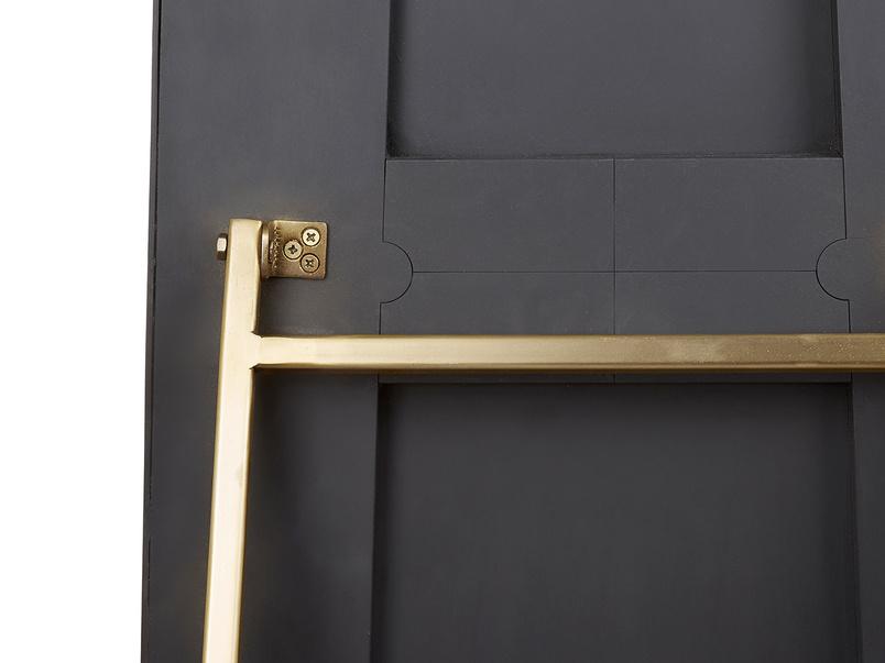 Stella free standing floor mirror with brass frame