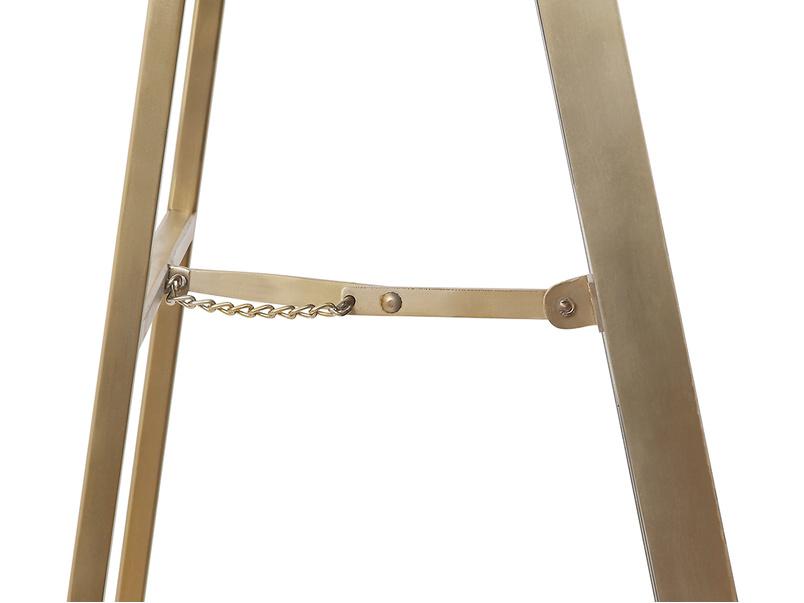 Stella free standing floor mirror with brass detail