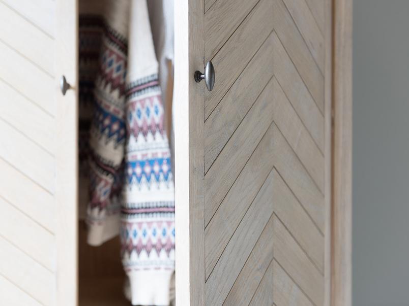 Super Flapper parquet style wooden wardrobe