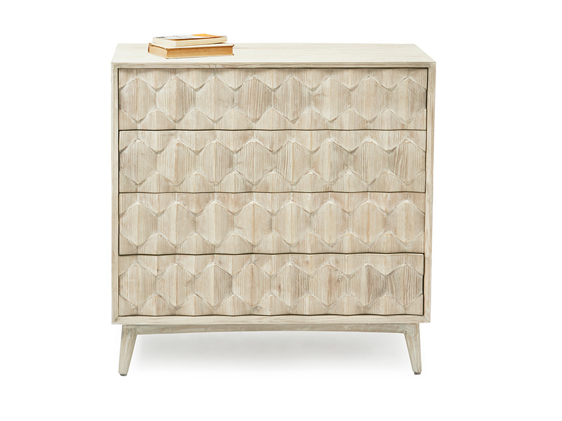 Orinoco hexagonal patterned wood bedroom furniture