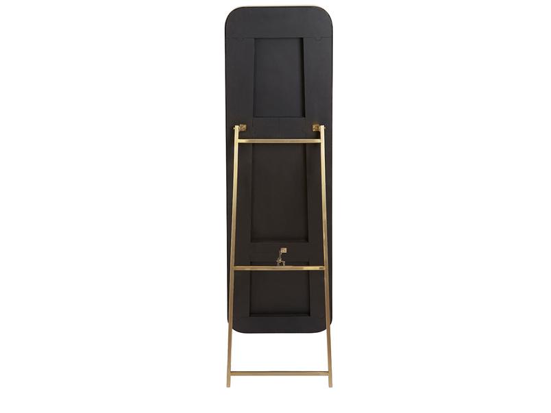 Stella floor mirror free standing brass frame