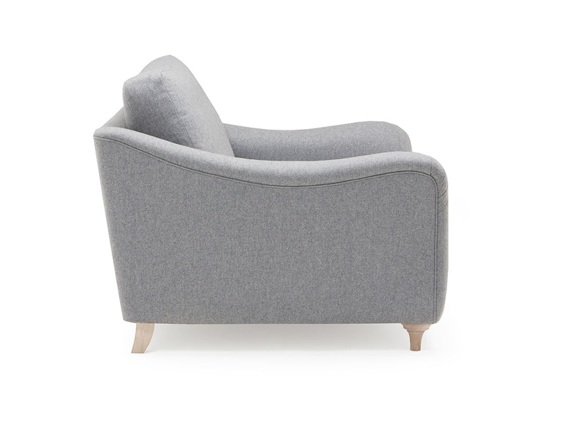 Bumpster modern curved armchair