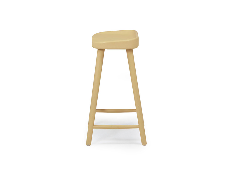 Bumble kitchen bar stool painted in Good Yellow
