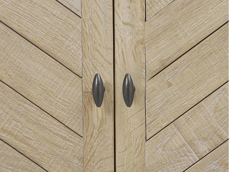 Super Flapper oak wood parqpuet wardrobe