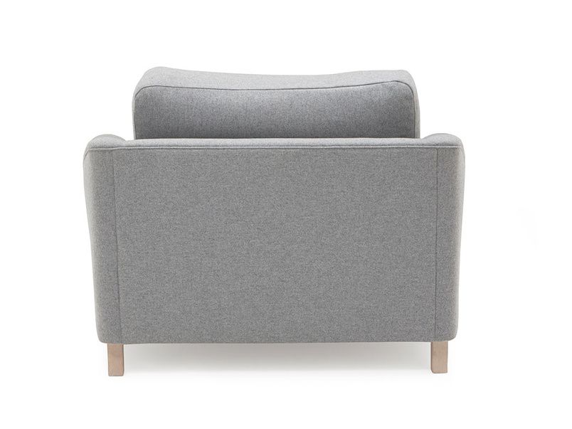 Bumpster curved arm comfy love seat