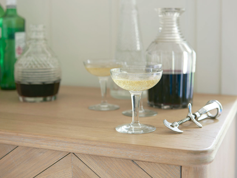 Bootleg parquet style drinks cabinet