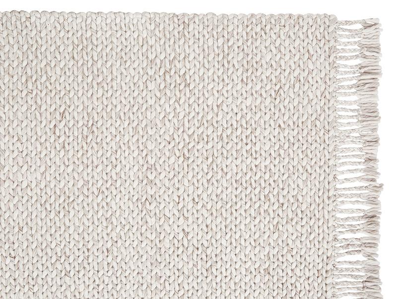 Chunkster natural woven floor rug corner detail