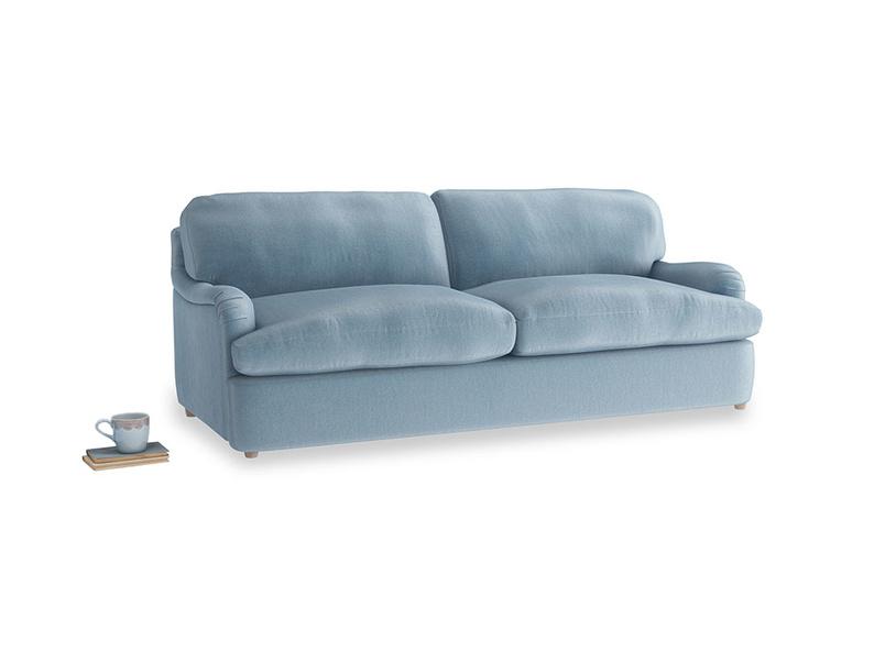 Large Jonesy Sofa Bed in Chalky blue vintage velvet