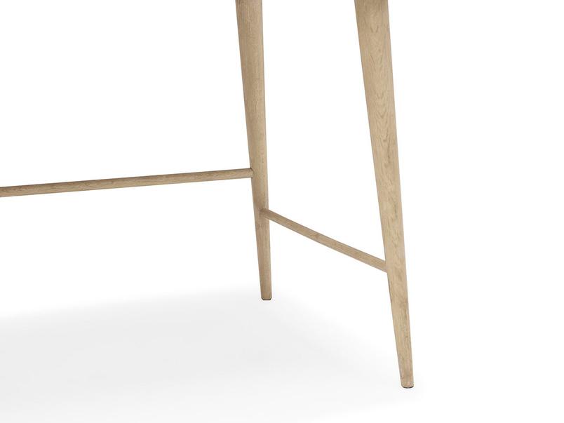 Clever Bubba small wooden desk leg detail