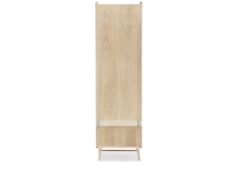 Little Bubba wooden shelving unit back detail