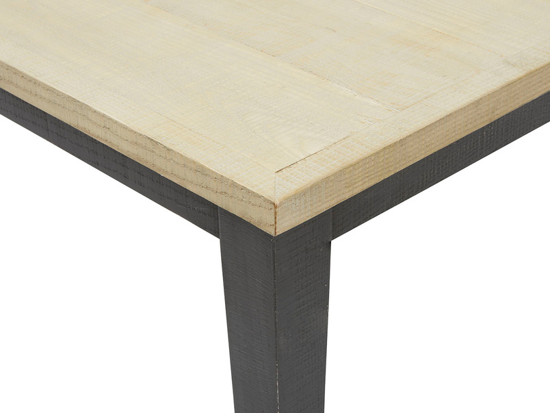 Kernel bandsawn oak kitchen table top detail
