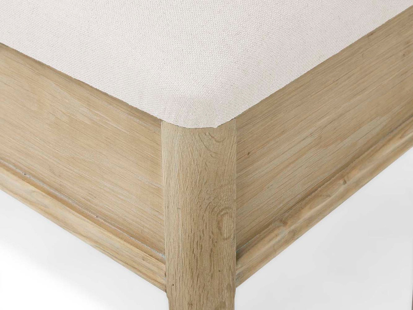 Lippy dressing table oak wood stool