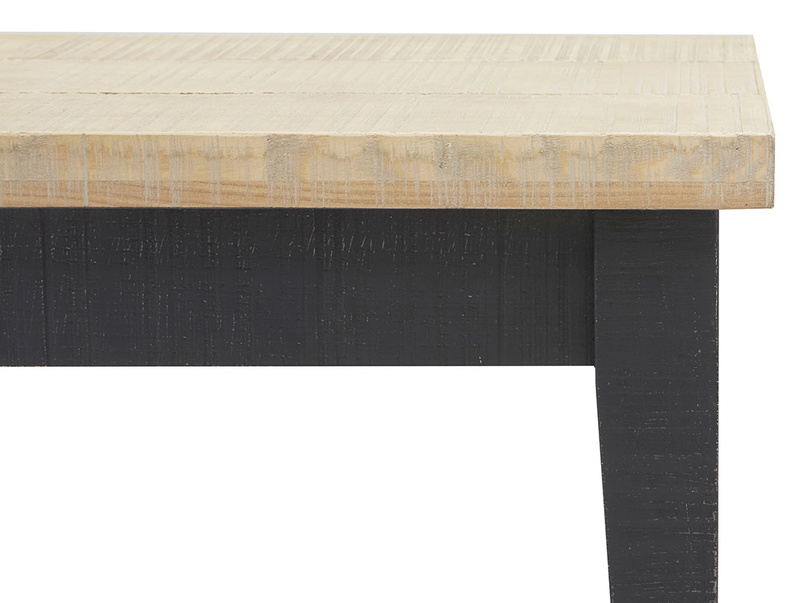 Chittlewag bandsawn oak wood kitchen bench
