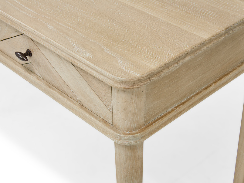 Fab Flapper dressing table in oak parquet wood