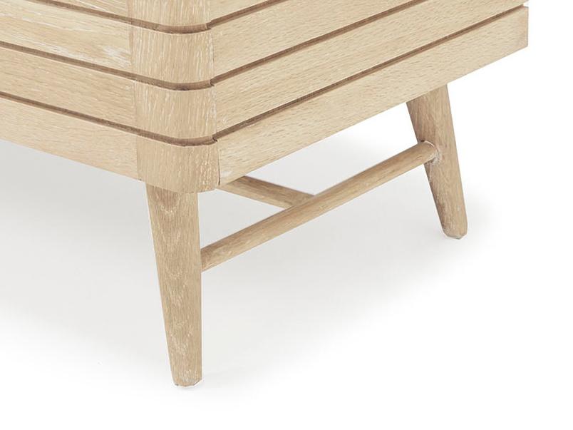 Grand Bubba oak wood sideboard retro style leg detail
