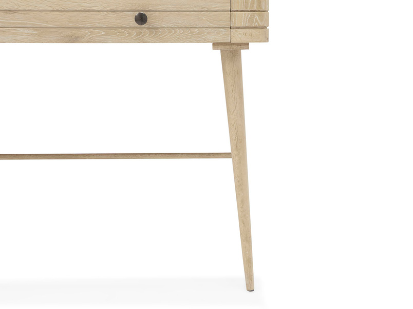 Clever Bubba wooden desk front detail