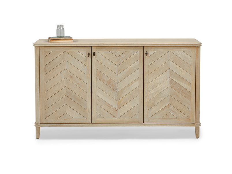 Grand Fandangle parquet style wooden sideboard