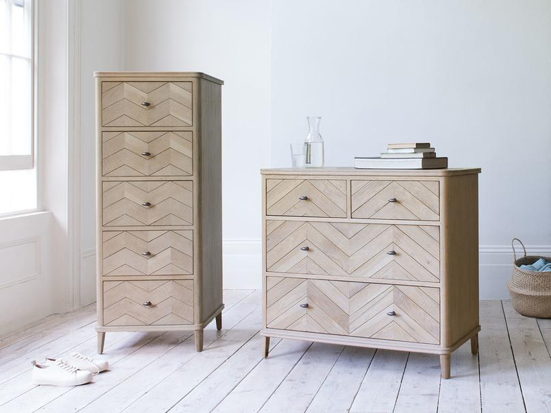 Flapper parquet furniture chest of drawers range