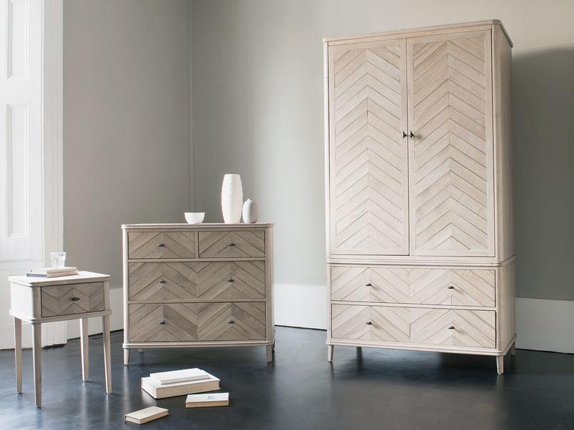 Flapper herringbone parquet wooden bedroom range furniture
