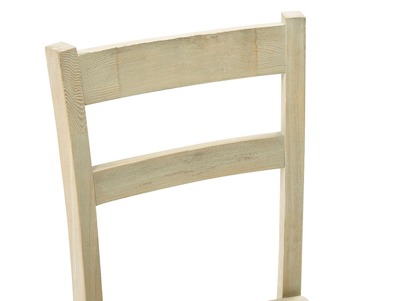 Idler wooden kitchen chair in Natural finish back detail